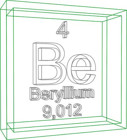 periodic table: Periodic Table of Elements - Beryllium Illustration