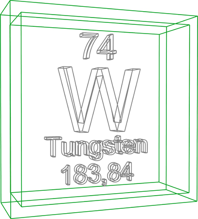 tungsten: Periodic Table of Elements - Tungsten Illustration