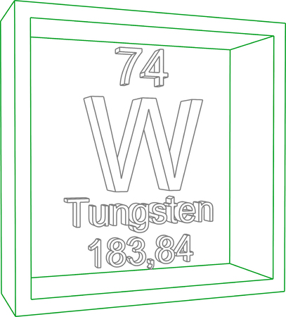 Periodic Table of Elements - Tungsten Illustration