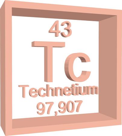 periodic: Periodic Table of Elements - Technetium Illustration