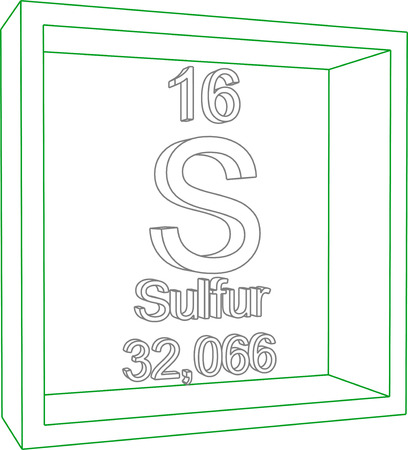 sulfur: Periodic Table of Elements - Sulfur Illustration