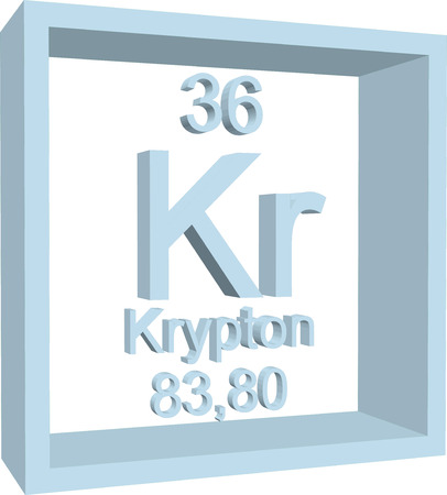 krypton: Periodic Table of Elements - Krypton
