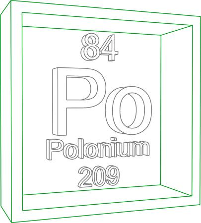 periodic: Periodic Table of Elements - Polonium Illustration