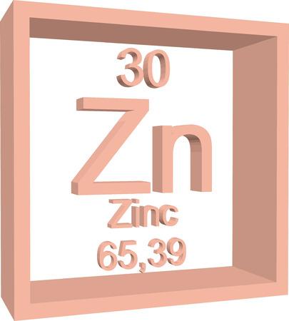 Tabla peridica de los elementos zinc ilustraciones vectoriales 57970414 tabla peridica de los elementos zinc urtaz Images