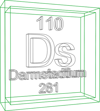 periodic table of the elements: Periodic Table of Elements - Darmstadtium Illustration