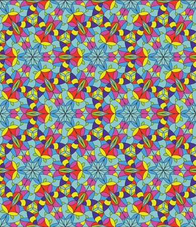 naadloze patroon van gebrandschilderd glas