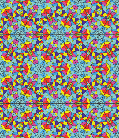 seamless pattern of stained glass
