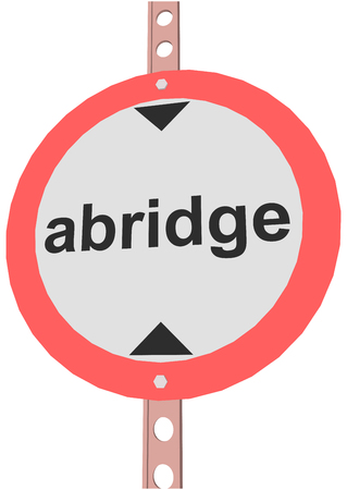 obey: road sign and text abridge Illustration