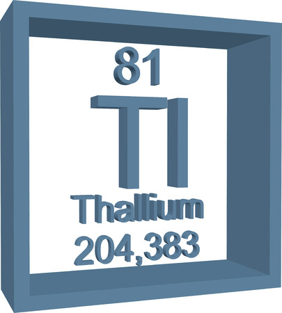 Periodic Table Of Elements Thallium Royalty Free Cliparts Vectors