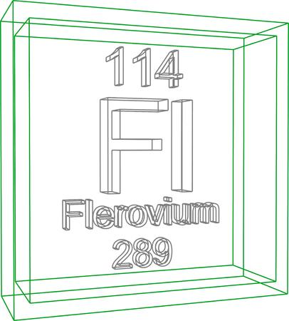 periodic table of the elements: Periodic Table of Elements - Flerovium Illustration