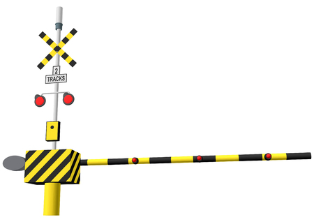 railroad crossing: railroad crossing vector illustration isolated on white background