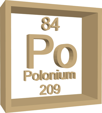 polonium: Periodic Table of Elements - Polonium Illustration