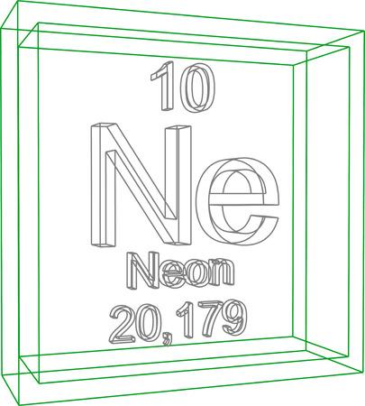 ne: Periodic Table of Elements - Neon