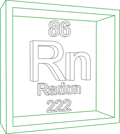 radon: Periodic Table of Elements - Radon Illustration