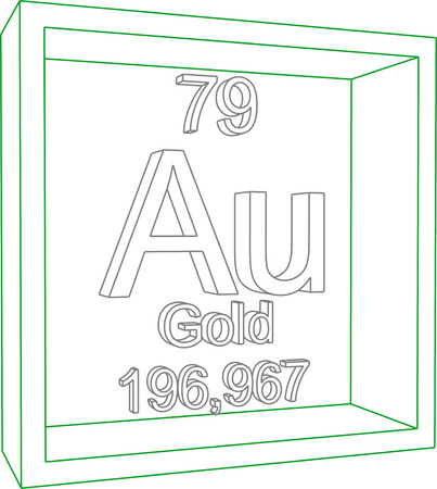 periodic: Periodic Table of Elements - Gold