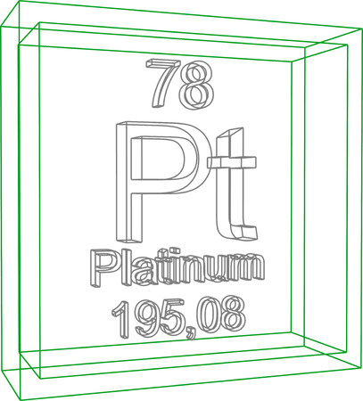 platinum: Periodic Table of Elements - Platinum Illustration