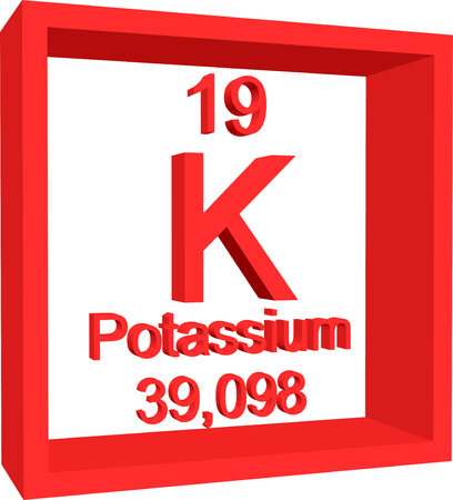 Periodensystem der Elemente - Kalium Vektorgrafik