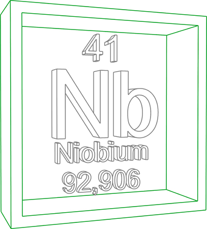 nb: Periodic Table of Elements - Niobium