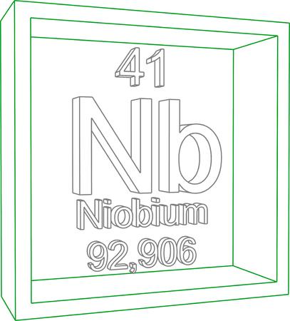 nb: Periodic Table of Elements - Niobium