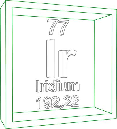 periodic: Periodic Table of Elements - Iridium Illustration