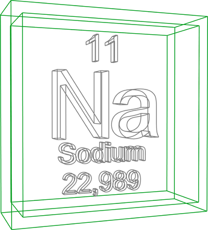periodic table of the elements: Periodic Table of Elements - Sodium Illustration
