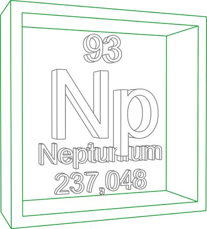 periodic: Periodic Table of Elements - Neptunium Illustration