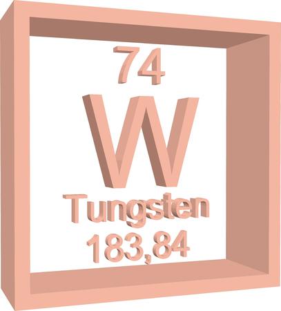 periodic: Periodic Table of Elements - Tungsten Illustration