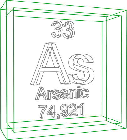 periodic table of the elements: Periodic Table of Elements - Arsenic Illustration