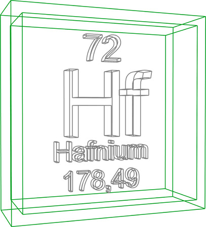 hf: Periodic Table of Elements - Hafnium Illustration