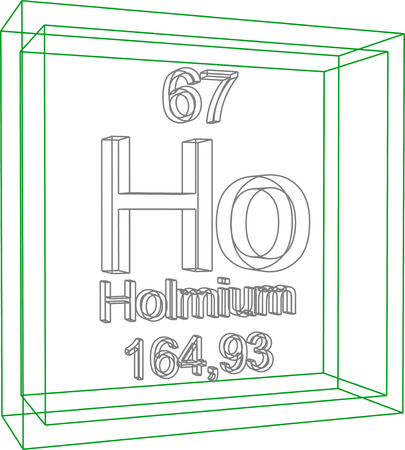 periodic table of the elements: Periodic Table of Elements - Holmium Illustration