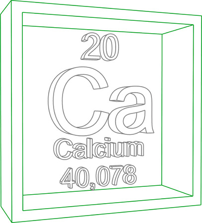 Periodic Table Of Elements Calcium Royalty Free Cliparts Vectors
