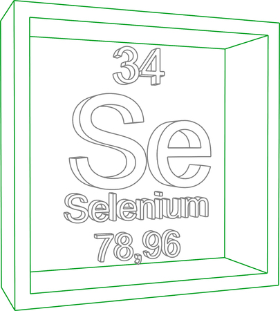 selenium: Periodic Table of Elements - Selenium Illustration