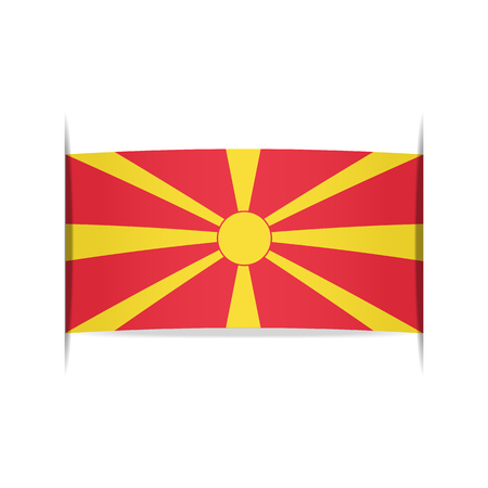 Flag of Macedonia Illustration
