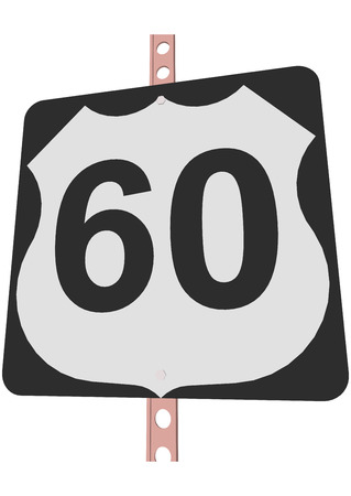 60: US 60 Route sign