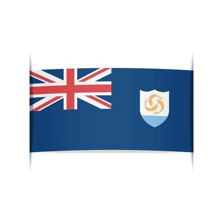 anguilla: Flag of Anguilla Illustration