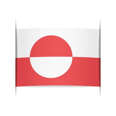 greenland: Flag of Greenland Illustration