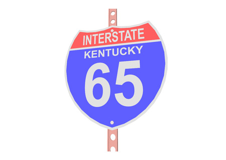 interstate: Interstate highway 65 road sign in Kentucky