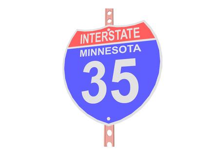 35: Interstate highway 35 road sign in Minnesota Illustration