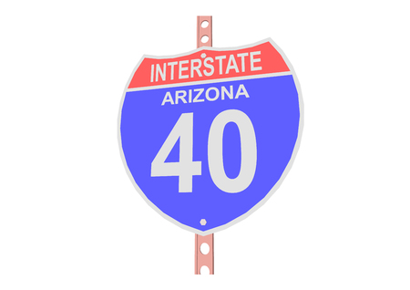 interstate: Interstate highway 40 road sign in Arizona