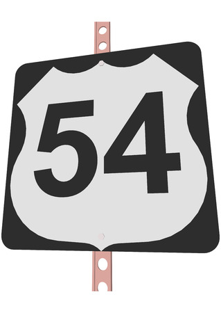 54: US 54 Route sign Illustration