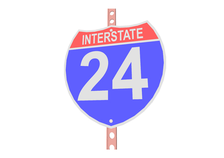 Interstate highway 24 road sign in