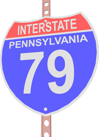 interstate: Interstate highway 79 road sign in Pennsylvania