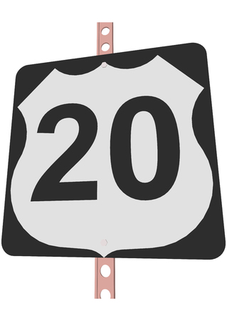 20: US 20 Route sign