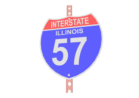 57: Interstate highway 57 road sign in Illinois