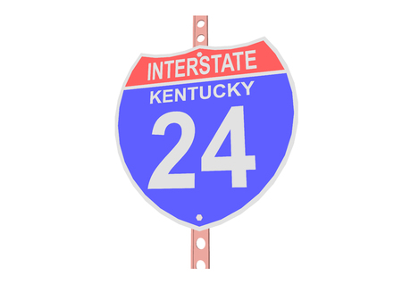 kentucky: Interstate highway 24 road sign in Kentucky Illustration