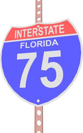 고속도로 75 도로 표지판