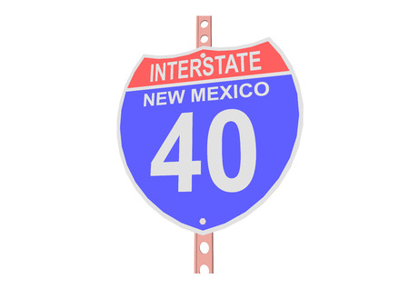 new mexico: Interstate highway 40 road sign in New Mexico