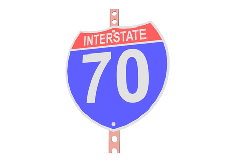 Interstate highway 70 road sign in