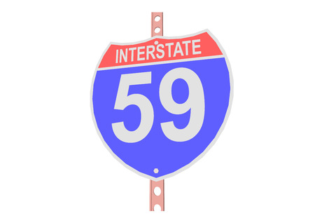 Interstate highway 59 road sign in