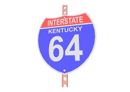 interstate: Interstate highway 64 road sign in Kentucky